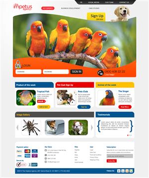 Pet shop web designs for Good sites to shop online