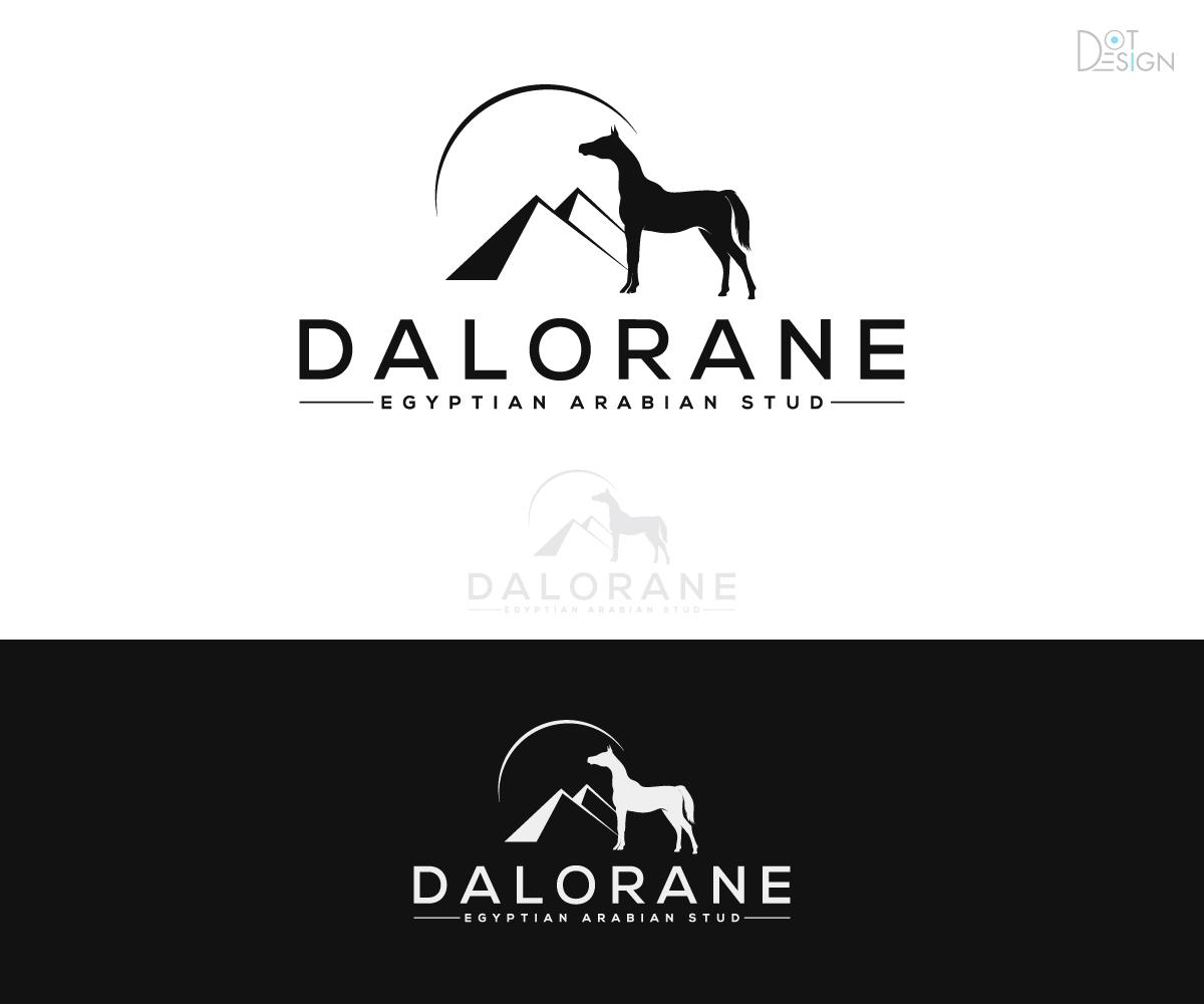 Logo For Egyptian Arabian Horse Stud 36 Logo Designs For Dalorane Egyptian Arabian Stud