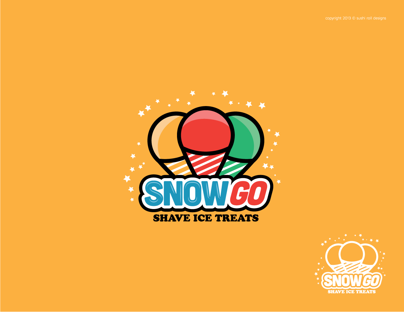 57 personable colorful logo designs for snow go shave ice