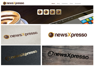 Logo Design by Amduat - Logo and App Icon for app named newsXpresso