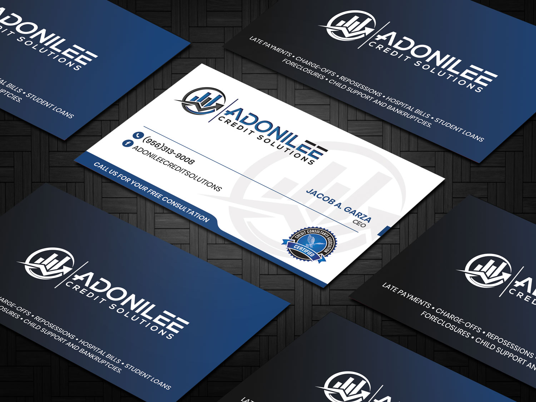 Modern Professional Business Card Design For Adonilee Credit Solutions Llc By Sandaruwan Design 24460878
