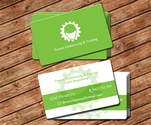 Construction business card design for towers earthmoving training business card design by spycroc for towers earthmoving training design 3054213 reheart Images