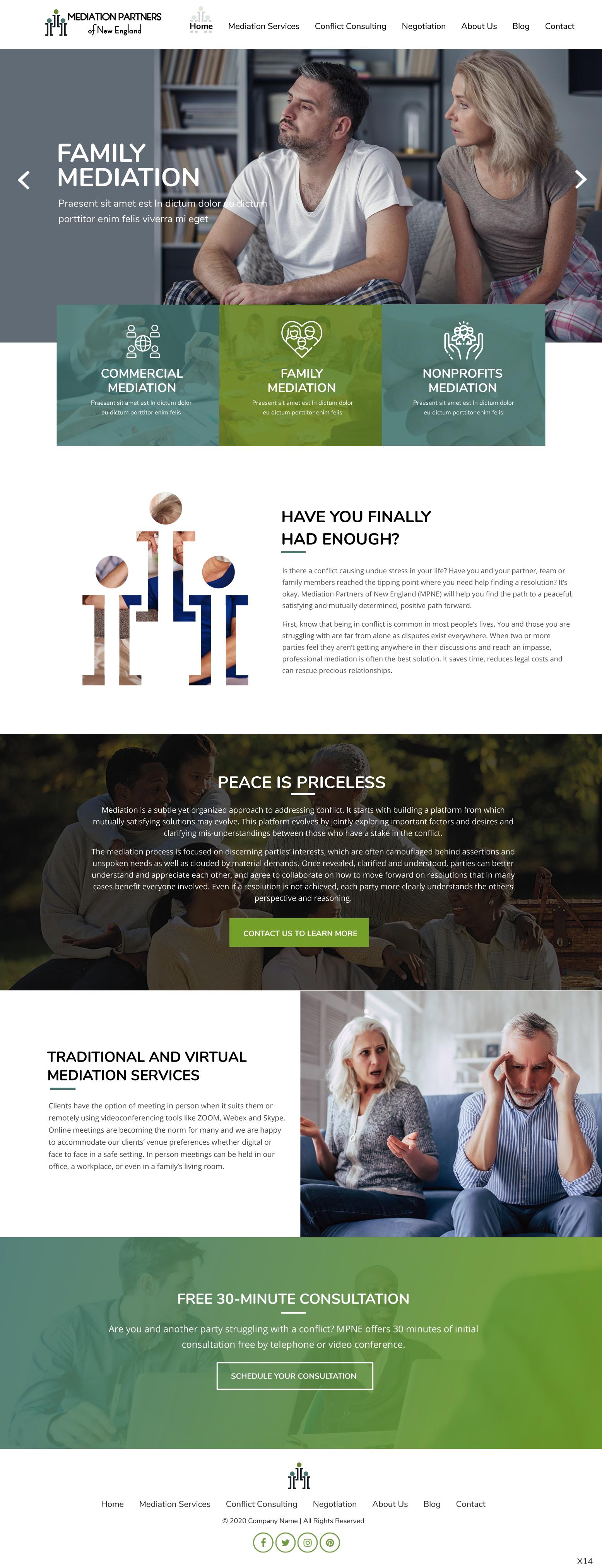 Mediation Website Design Upgrade 17 Web Designs For A Business In United States