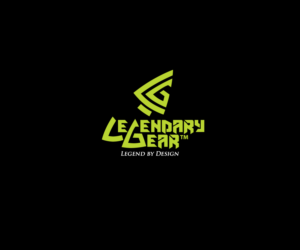 'Legendary Gear' (name) and 'Legend by Design' (tag line) | Logo Design by Buck Thylacine