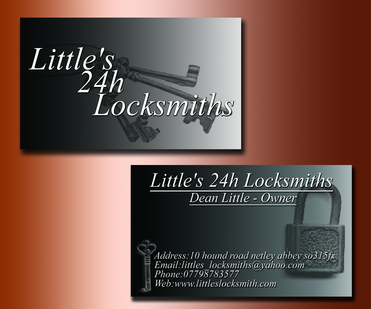 Bold, Serious Business Card Design for dean little by DreamDesigns ...