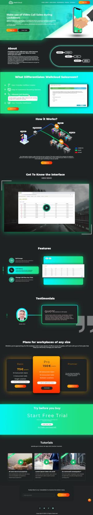 Landing Page Design by Hassaan Noor