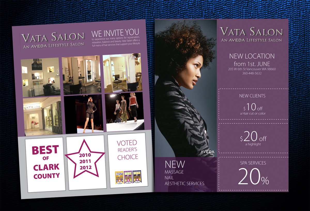 28 colorful modern salon flyer designs for a salon for Hair salon perfect first essential