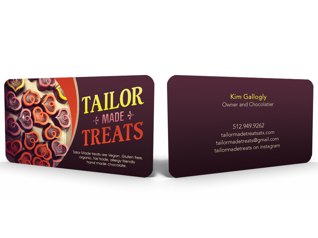 Upmarket bold business card design for tailor made treats by business card design by hardcore design for new business card for chocolate company magicingreecefo Image collections