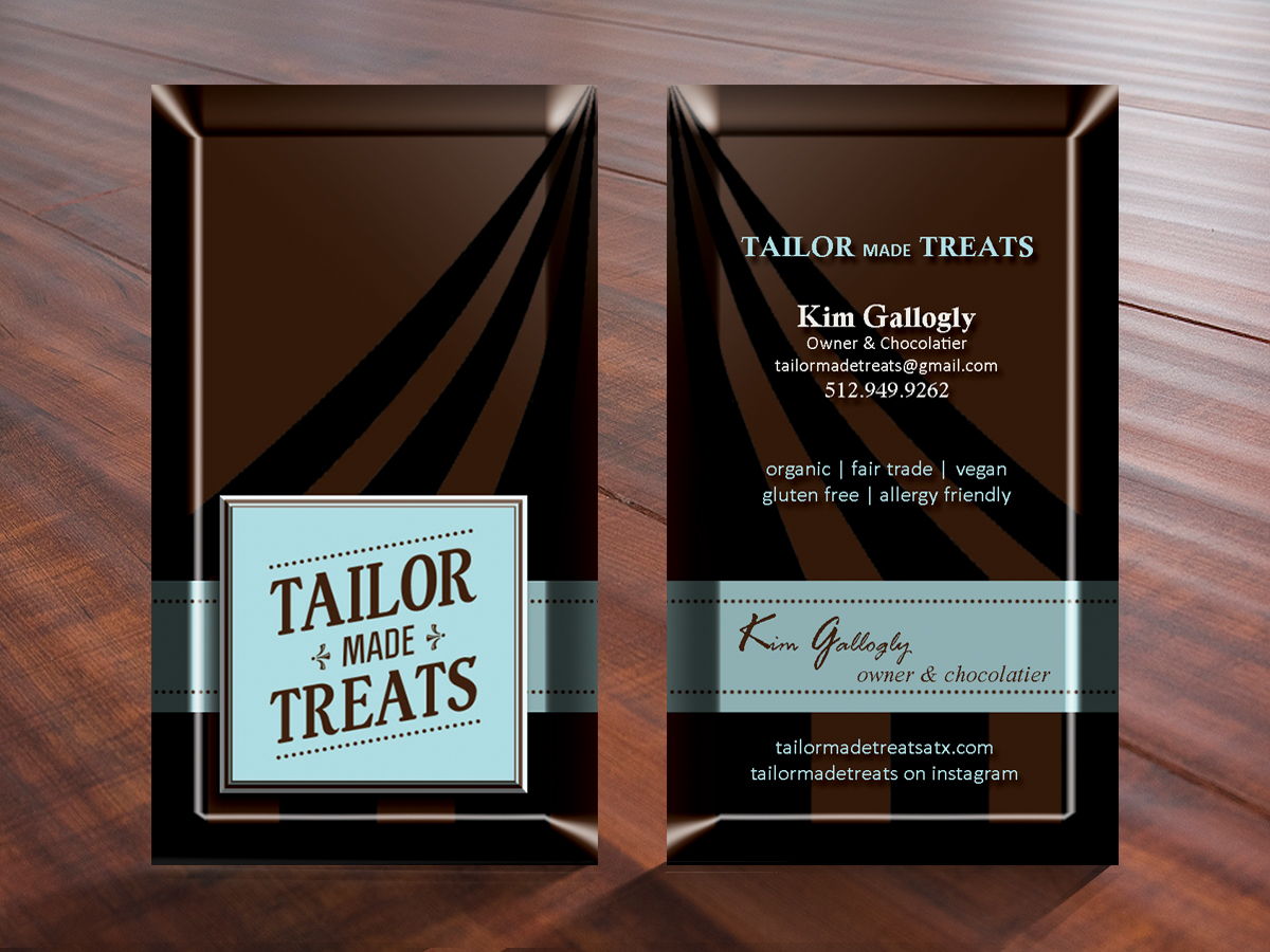 Upmarket bold business card design for tailor made treats by business card design by create snapshots for new business card for chocolate company magicingreecefo Image collections