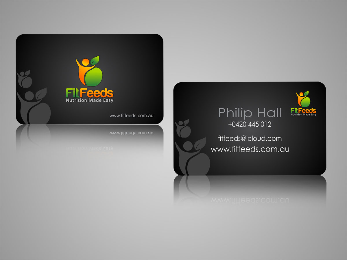 Masculine, Bold, Nutrition Business Card Design for a Company by ...