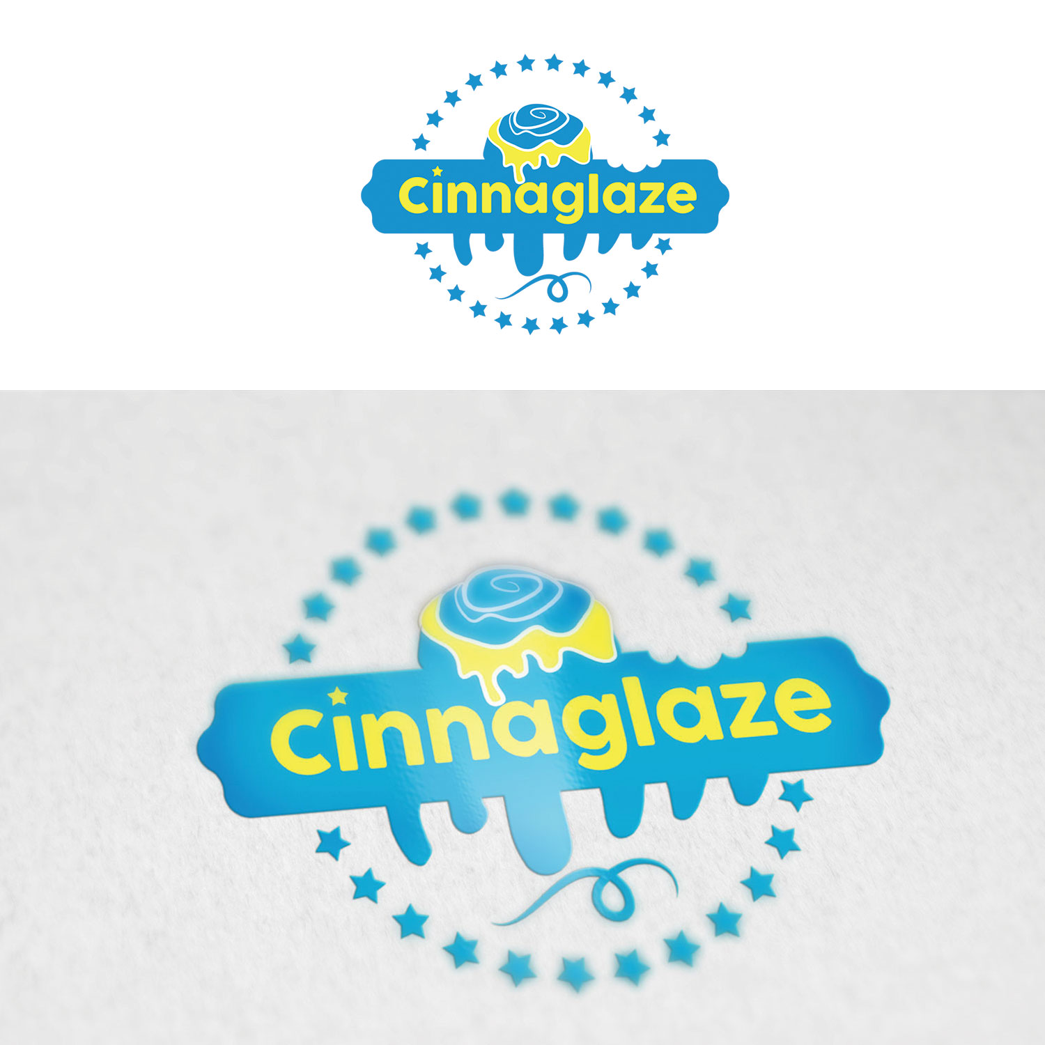 playful modern logo design for cinnaglaze by feel free design design 24952167 designcrowd