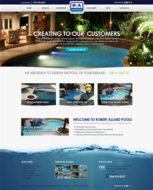 Web Design by RishiRich - Pool Website