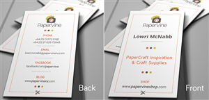 Business Card Design by prodesigner - Need 2 sided card for Craft Supply Co. Logo sup...