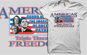 T-Shirt Design by Ambrech - Patriotic-Founding Father Themed T-shirt