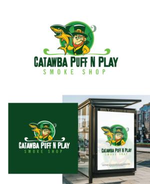 Catawba puff n play smoke shop | Logo Design by Moosartist