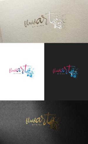 Fluid Art by Nina | Logo Design by GLDesigns