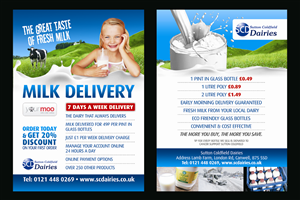 Flyer Design by Andreev - A6 flyer for milkman