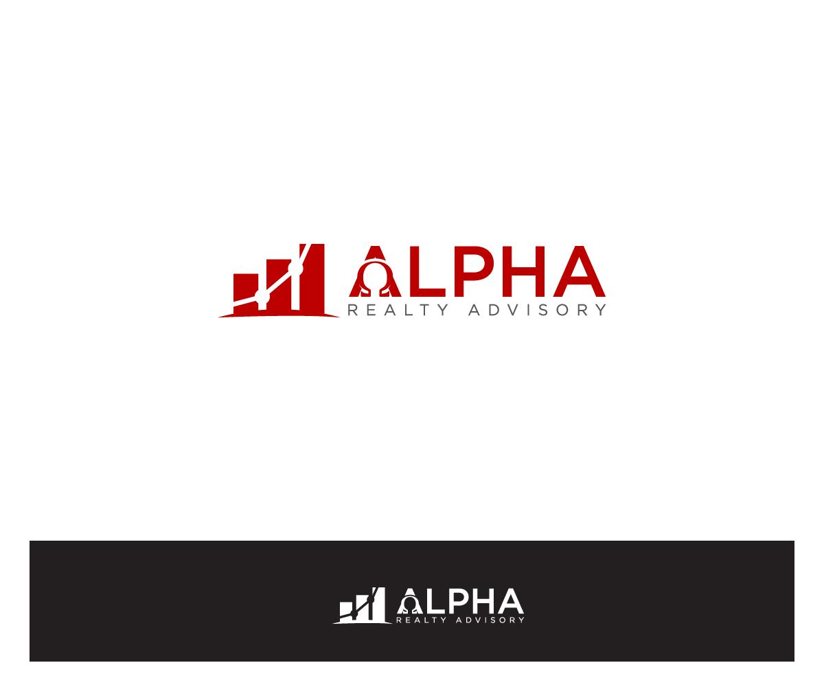 Real Estate Logo Design For Alphain Greek Symbol Realty Advisory