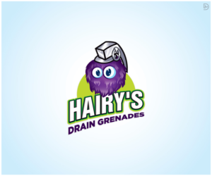Hairy's Drain Grenades | Logo Design by D_Mantra