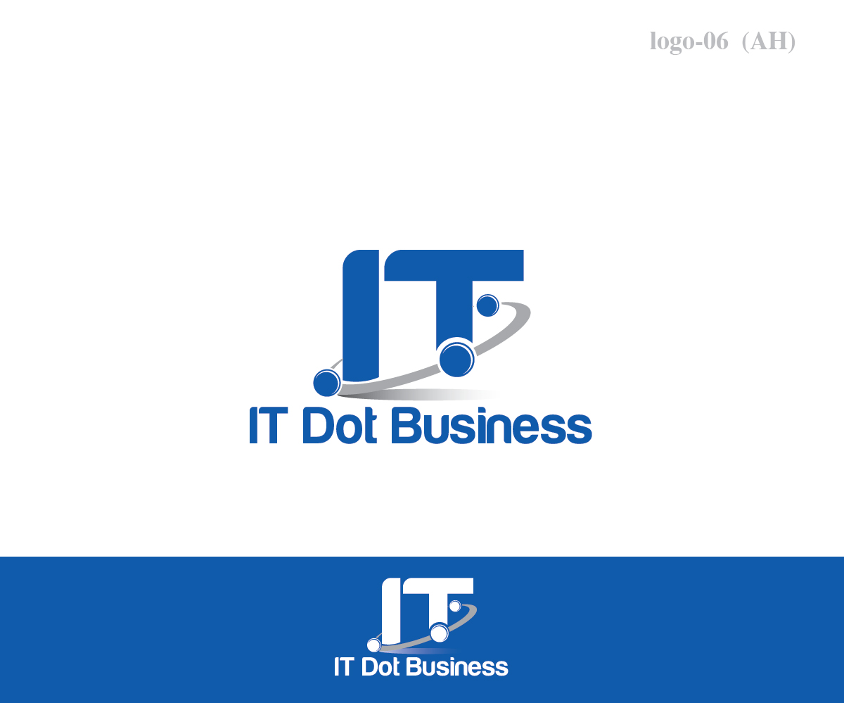professional serious information technology logo design