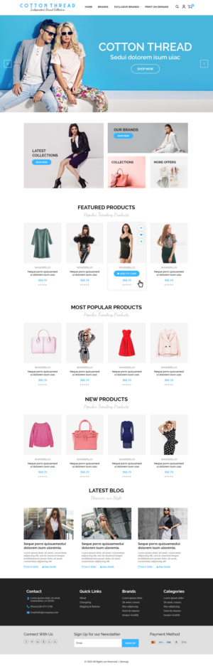 BigCommerce Design by MAHABA for this project | Design: #25618977