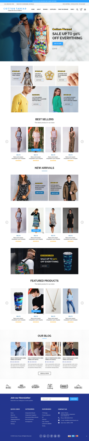 BigCommerce Design by pb for this project | Design: #25599308