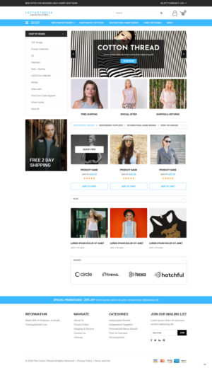 BigCommerce Design by pb for this project | Design: #25599310