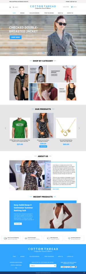 BigCommerce Design by pb for this project | Design: #25599311