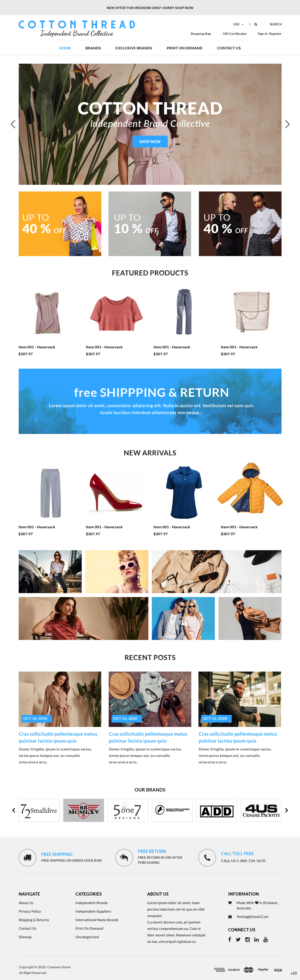BigCommerce Design by pb for this project | Design: #25604982