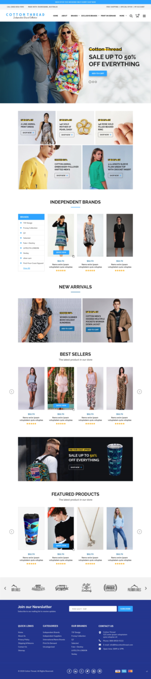 BigCommerce Design by pb for this project | Design: #25616209