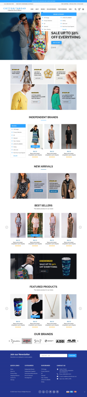 BigCommerce Design by pb for this project | Design: #25623302