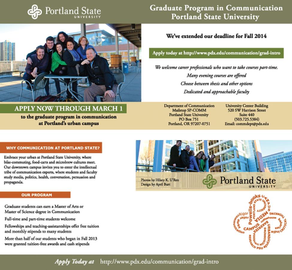 Conservative Bold School Print Design For Portland State University By Red Rocket Creative Design 3062740