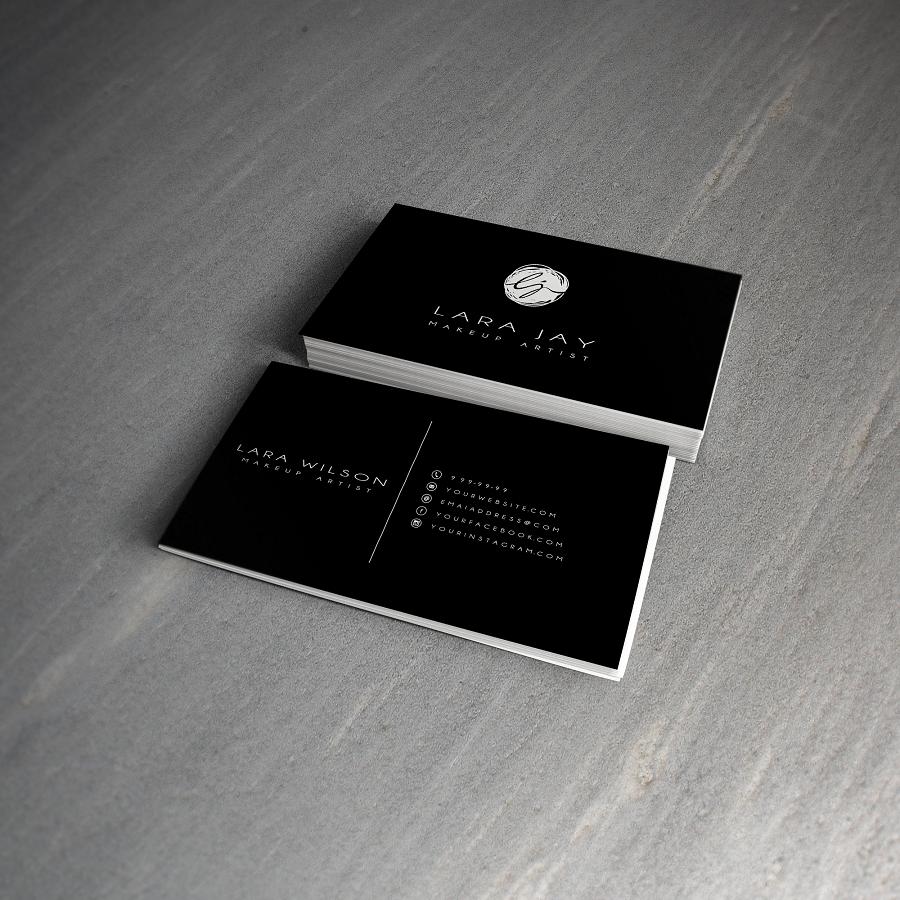 Makeup Artist Business Cards Design - Mugeek Vidalondon