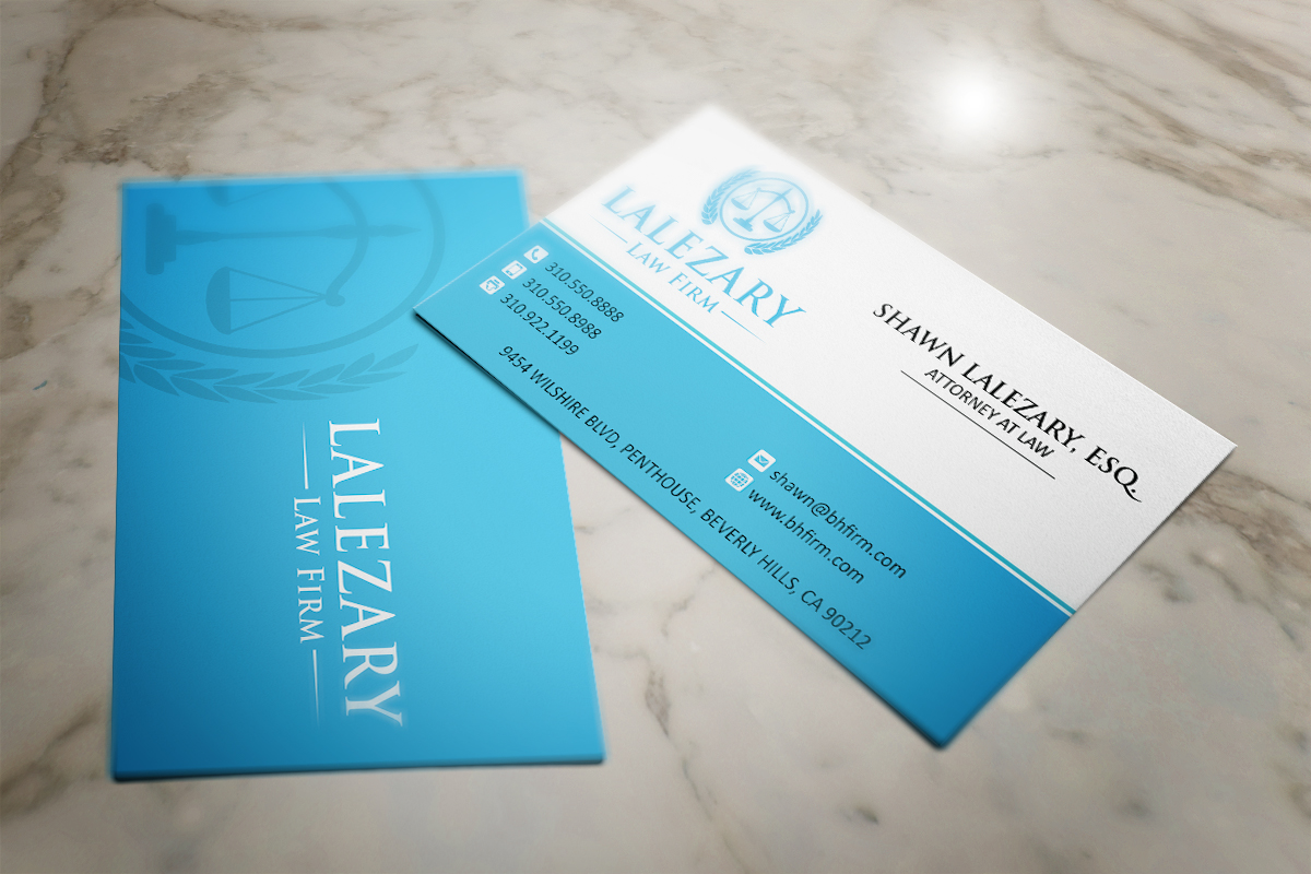 Law Firm Business Card Design Galleries for Inspiration