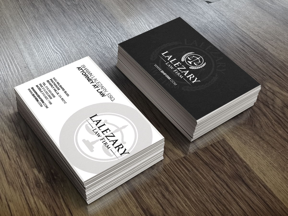 Elegant Serious Business Business Card Design For A