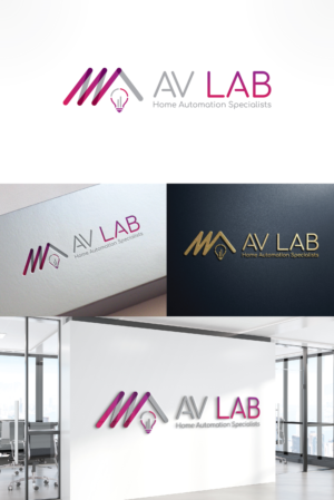 AV LAB  ( home automation specialists ) | Logo Design by Grafix Solution