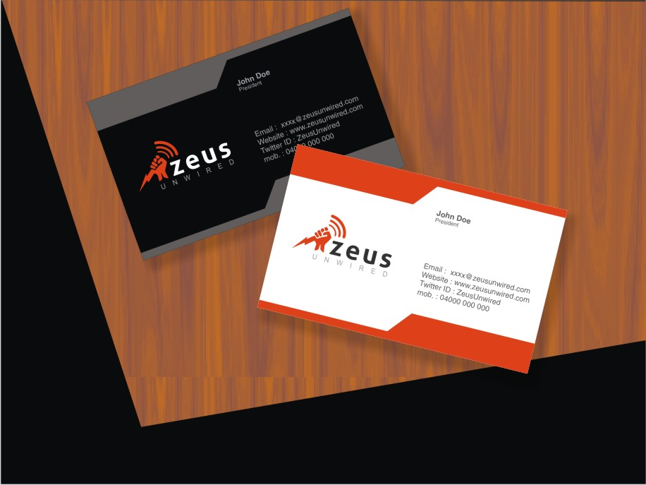 bold modern marketing business card design for a company by