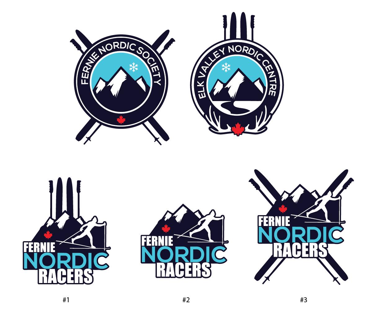 Bold Modern Logo Design Design For Fernie Nordic Society