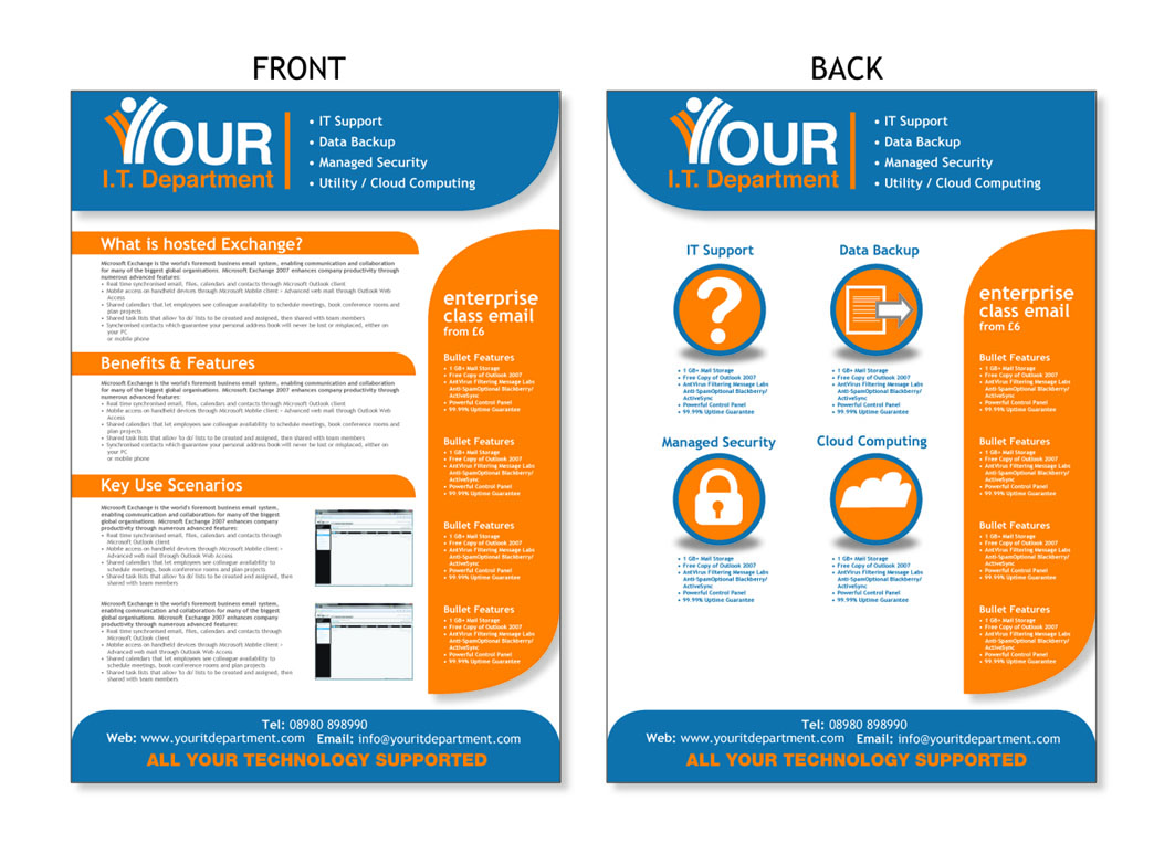 modern professional flyer design for your it department ltd by