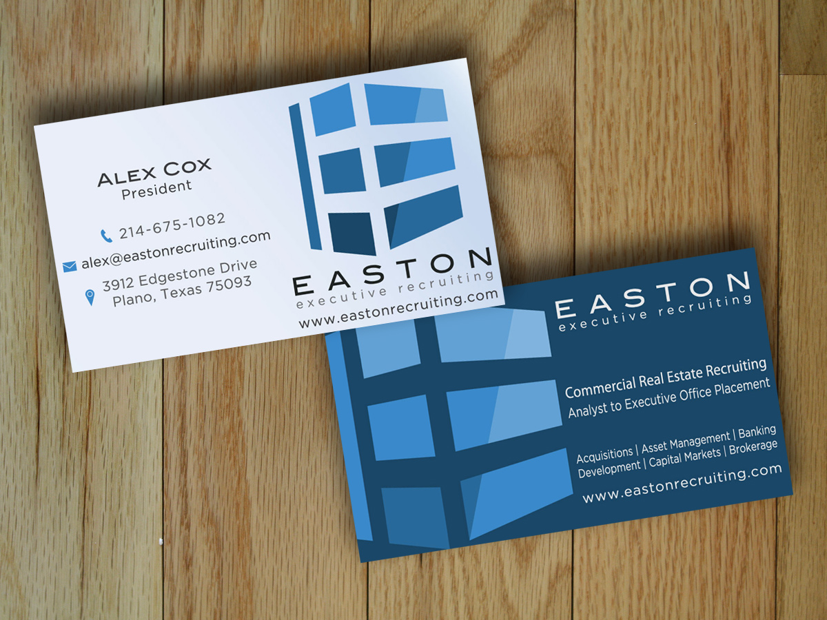 Elegant, Traditional, Real Estate Business Card Design for a Company ...