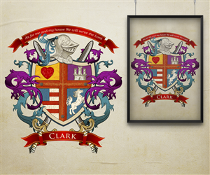 Graphic Design by kaatem - Clark family crest