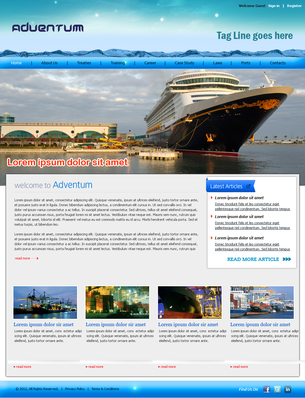 Serious, Modern, Shipping Web Design for a Company by Expert