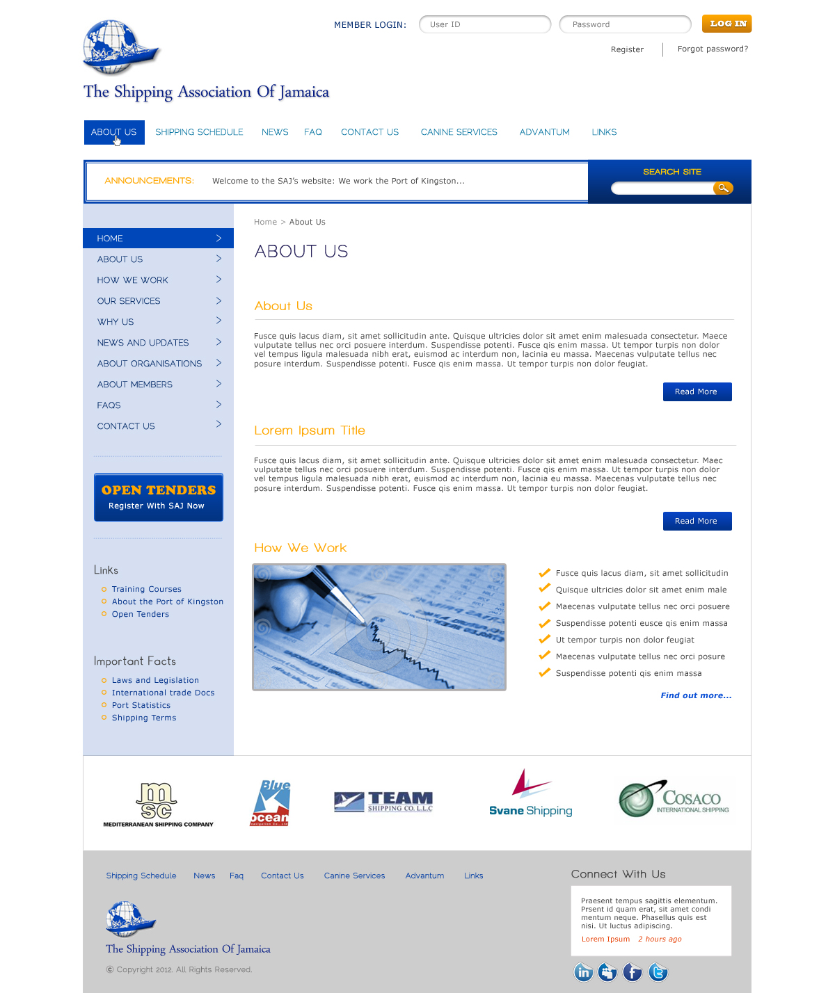 Serious, Modern, Shipping Web Design for a Company by D