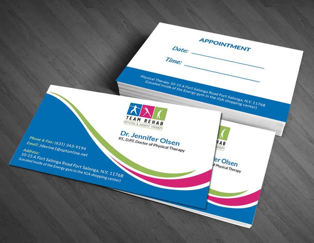 Elegant, Professional, Business Business Card Design for Team Rehab ...