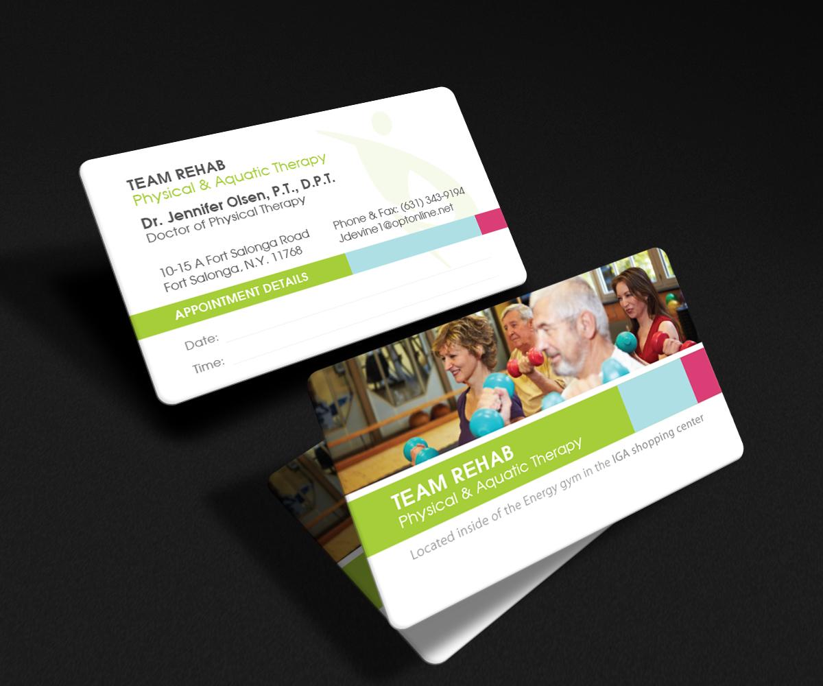 Elegant, Professional Business Card Design for Team Rehab Physical ...