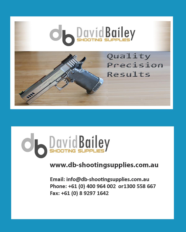 Gun Business Card Design for David Bailey Enterprises by