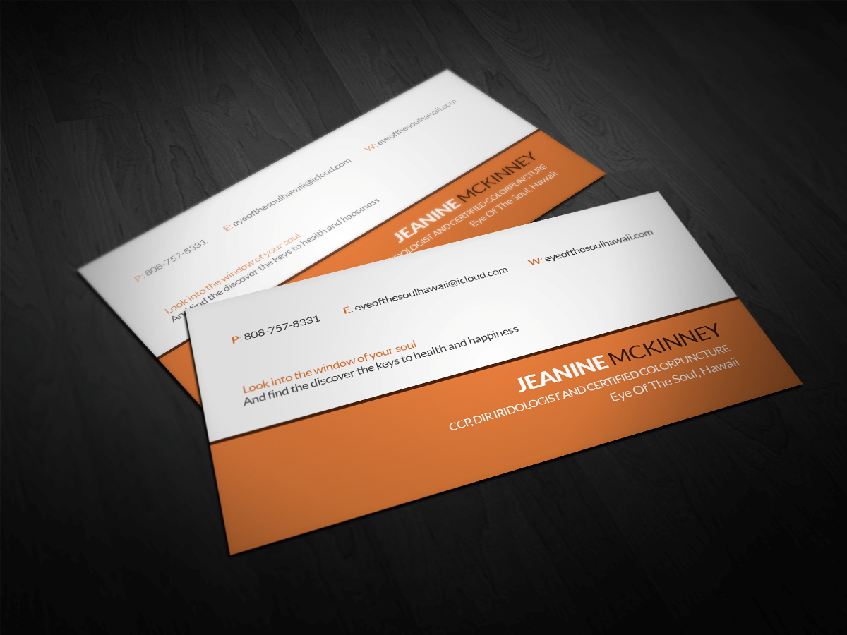 Modern personable business business card design for eye of the business card design by soma designer for eye of the soul hawaii design reheart Gallery