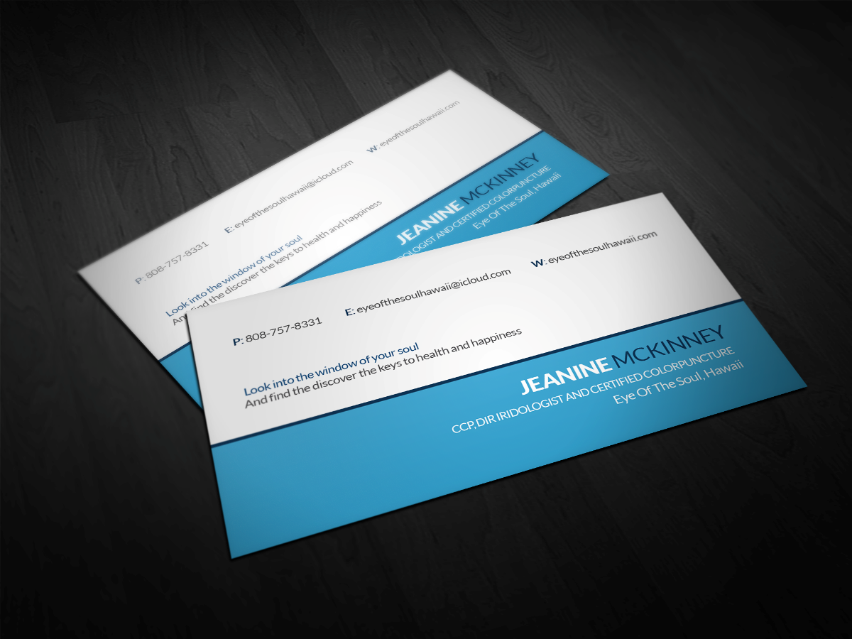 Modern, Personable Business Card Design for Eye of The Soul, Hawaii ...