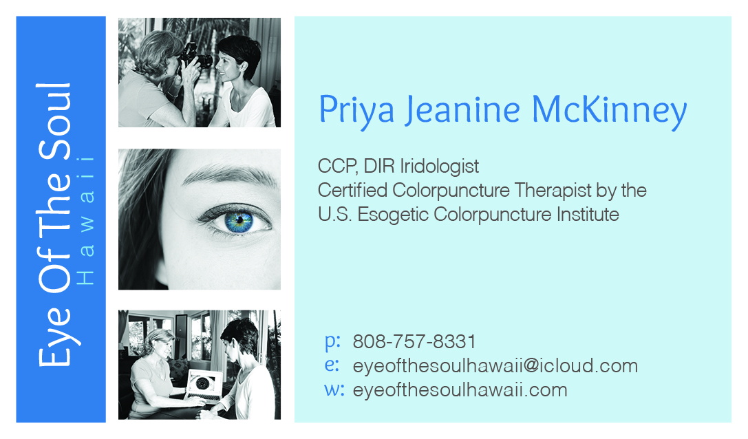 Modern personable business business card design for eye of the business card design by eefdownunder for eye of the soul hawaii design 3081908 reheart Gallery