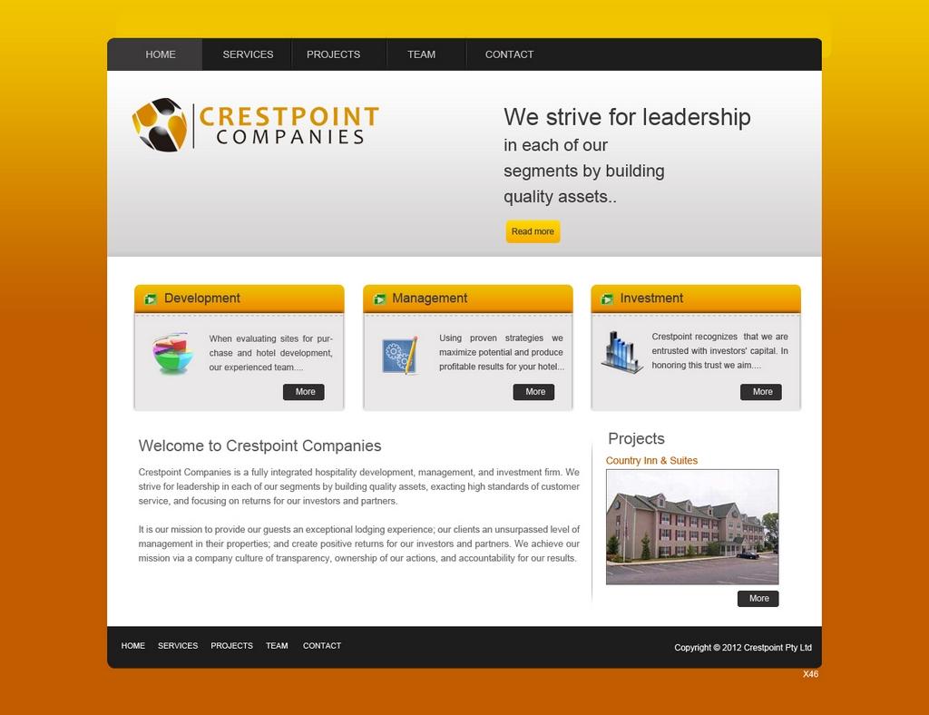Upmarket Modern Hospitality Web Design For A Company By